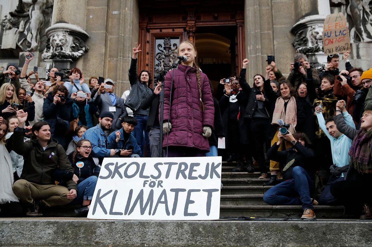 Greta Thunberg steht in den Schweizer Alpen abermals im Rampenlicht.