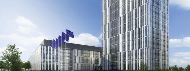 """Das geplante Bürogebäude der EU-Kommission entspricht den Vorgaben des Masterplans für das """"Plateau de Krichberg""""."""