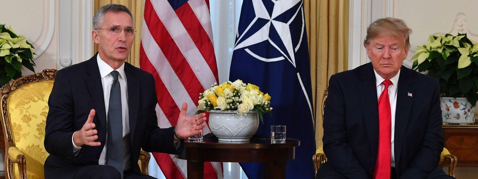 Nato-Generalsekretär Jens Stoltenberg und US-Präsident Donald Trump.