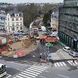 Beginn der Bauarbeiten an der place d'Etoile. Foto:Gerry Huberty