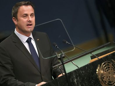 Prime Minister Xavier Bettel of Luxembourg addresses the 71st United Nations General Assembly in Manhattan, New York, U.S. September 23, 2016. REUTERS/Carlo Allegri
