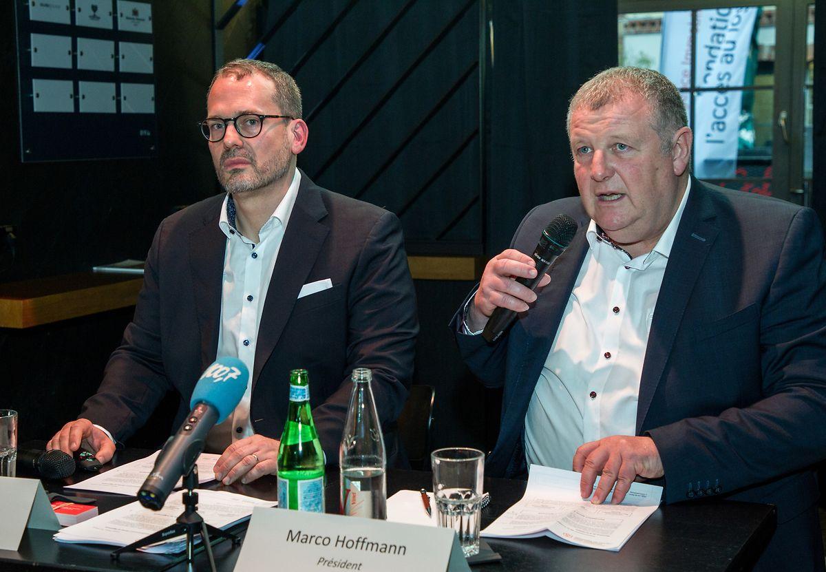 Gilles Hempel, directeur, et Marco Hoffmann, président de l'Agence immobilière sociale ont lancé Abitatio.