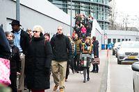 14.03.2016 Luxembourg, Mercl, Forum Geesseknäppchen, manifestation des professeurs du lycée international school photo Anouk Antony
