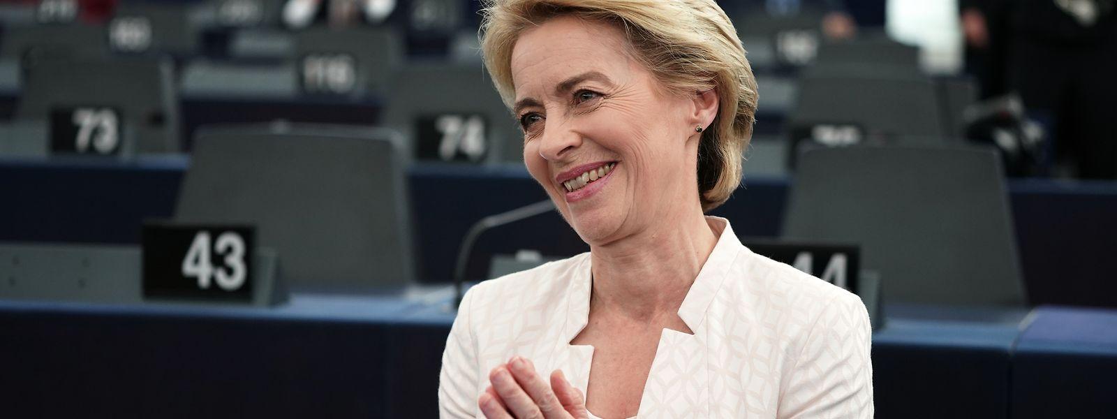 Knapp gewählt: Ursula von der Leyen