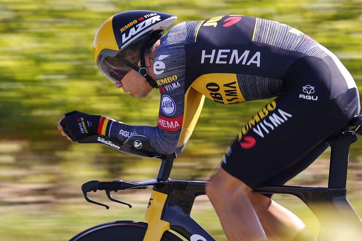 Wout van Aert war am Samstag auf dem Weg nach Saint-Emilion nicht zu schlagen.