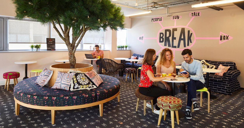 Espaces détente et open-space pour coworking : le site du Kirchberg mêlera les genres.