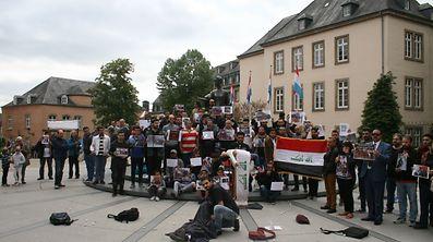 Les Irakiens du Luxembourg ont voulu sensibiliser l'opinion publique à la situation insoutenable de leur pays.