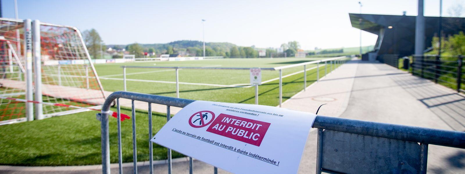 Zutritt verboten: Sportler müssen viel Geduld aufbringen.