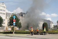 Lokales, Brand im Parkhaus Rousegaertchen, mehrere Autos brannten Foto: anouk Antony/Luxemburger Wort