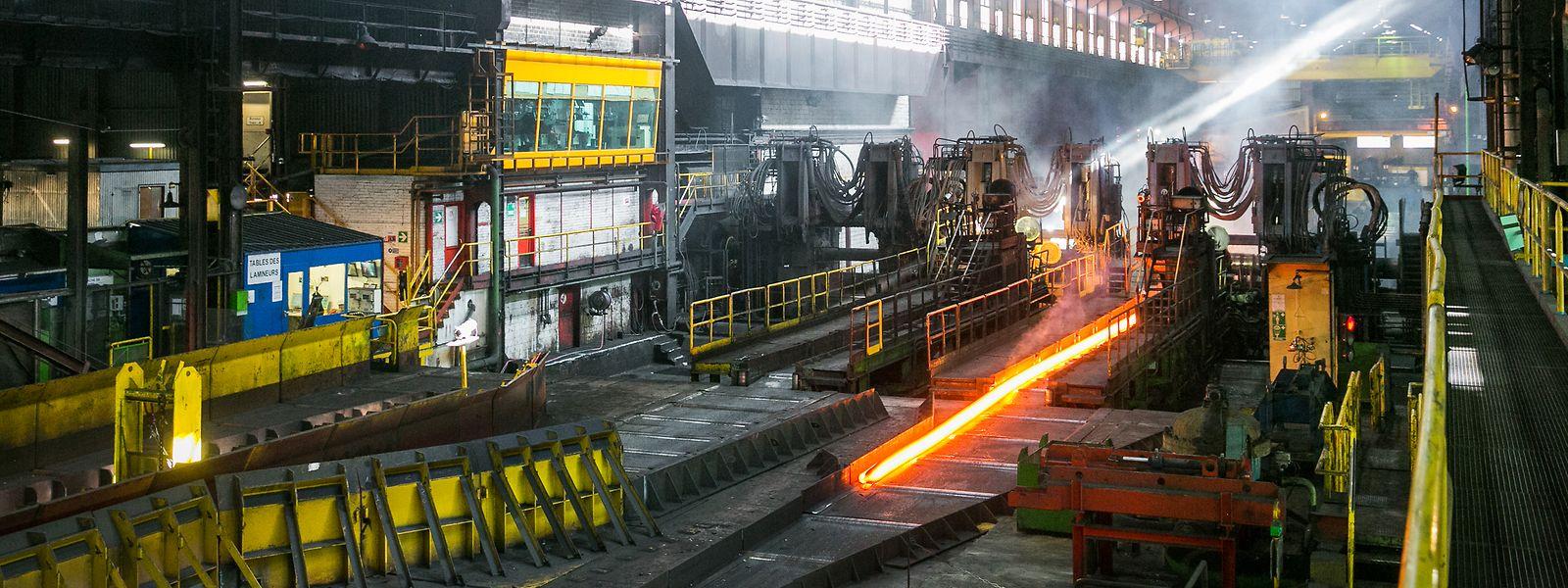 Blick in das Walzwerk von ArcelorMittal in Rodange.