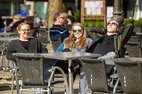 Frühling,Terrasse,Café,warme Temperaturen,Foto:Gerry Huberty