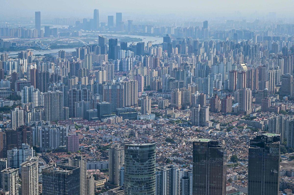 Vista aérea de Xangai, a maior cidade e um dos centros financeiros da China.
