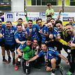 Handball Nationaldivision Spielzeit 2017-18 M-PO-T zwischen dem HC Berchem und dem HB Käerjengam 12.05.2018 Freude beim Meister HB Kaerjeng nach dem Sieg