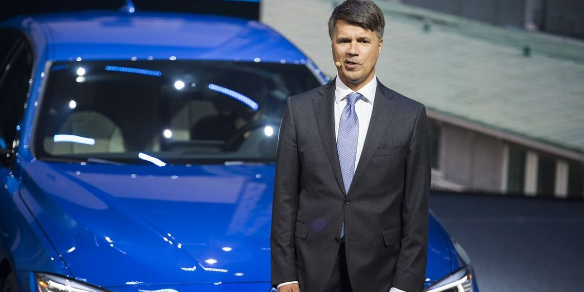 CEO of BMW Harald Krueger speaks at the 66th IAA auto show in Frankfurt am Main, western Germany, on September 15, 2015.   AFP PHOTO / ODD ANDERSEN