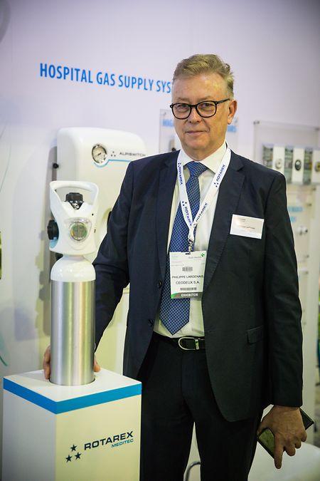 """""""Es ist wirklich eine gute Gelegenheit, neue Geschäfte zu machen und bestehende auszubauen"""", stellt der """"Global Sales Manager"""" der Firma Ceodeux Philippe Lardenais fest."""