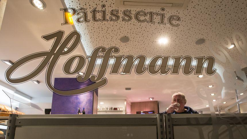 La vitrine de la pâtisserie Hoffmann de Bonnevoie.