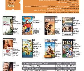 Weekend Filmprogramm am Kulturhuef Kino