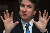 (FILES) In this file photo taken on September 5, 2018; US Supreme Court nominee Brett Kavanaugh speaks on the second day of his confirmation hearing in front of the US Senate in Washington DC. - The woman whose sexual assault allegation threatens to bring down President Donald Trump's Supreme Court nominee has agreed to testify in the Senate, her lawyers said September 22, 2018, setting up a dramatic showdown next week.Christine Blasey Ford's decision followed days of negotiations and came after Trump turned against her and said her accusation could not be true. After the Senate Judiciary Committee received a message from Ford's lawyers, several members confirmed she had accepted their committee's request to testify. (Photo by SAUL LOEB / AFP)