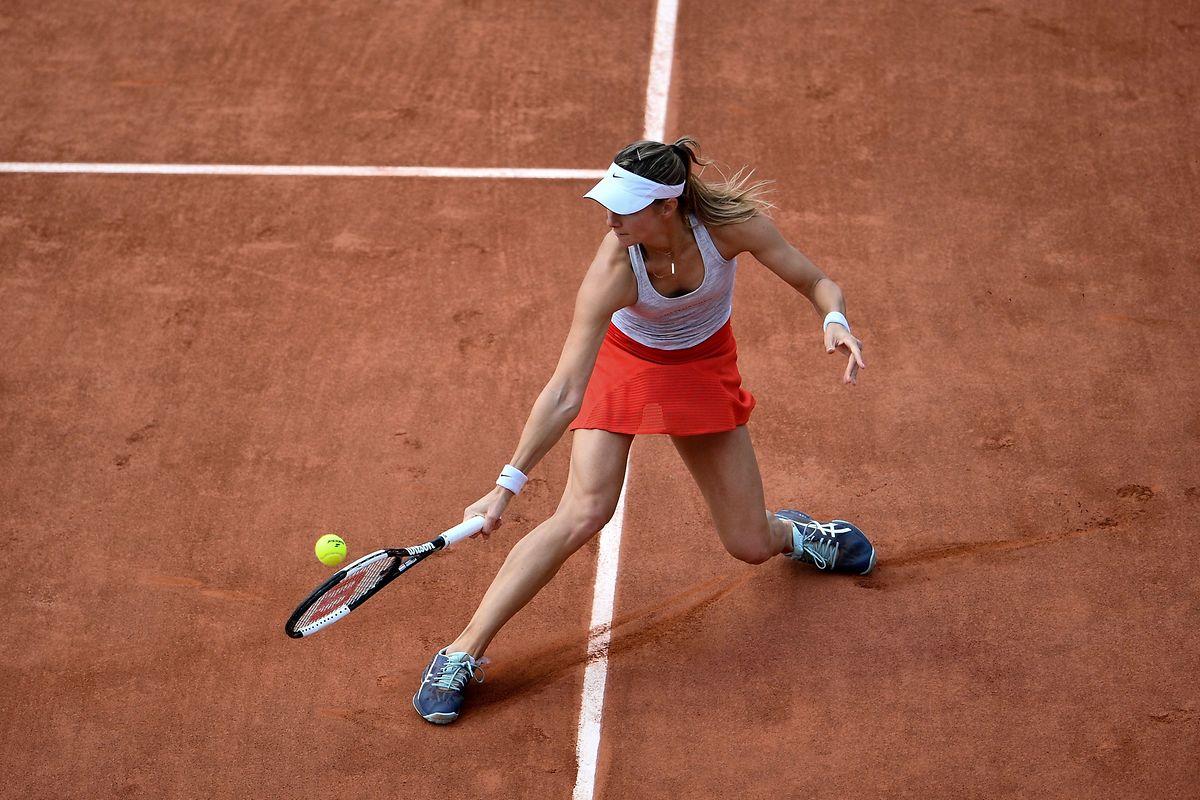Pour la première fois en neuf tentatives, Mandy Minella accédait au deuxième tour de Roland Garros cette année