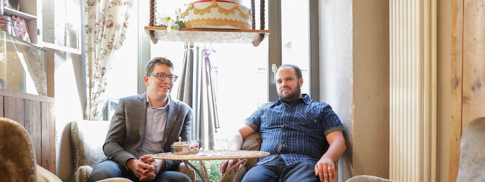 Die neuen Abgeordneten der Piraten Sven Clement (l.) und Marc Goergen.