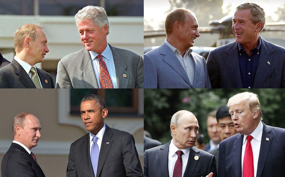 Putin hat sich im Lauf seiner Amtszeiz bereits mit den vier Vorgängern von Biden (Carter, Bush, Obama und Bush getroffen.