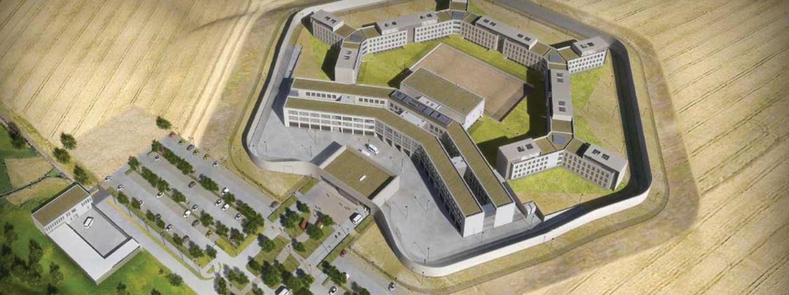 So soll das neue Gefängnis für Untersuchungshäftlinge aussehen. Noch ist allerdings kein Stein gesetzt.