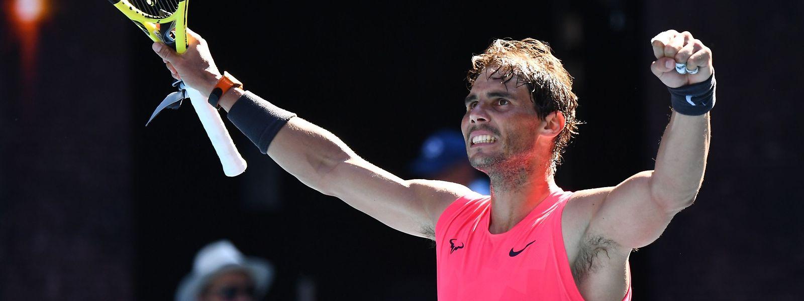 Der spanische Topstar Rafael Nadal setzte sich klar gegen seinen Landsmann Pablo Carreno Busta durch.