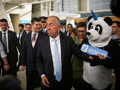 O Presidente da República Portuguesa, Marcelo Rebelo de Sousa no último dia da 'Web Summit' em Lisboa