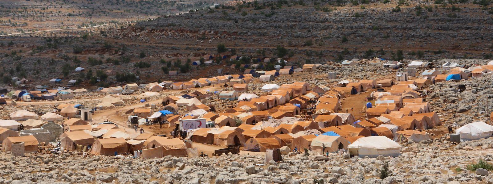 Syrien: Ein Lager für Binnenvertriebene in der Nähe der türkischen Grenze.