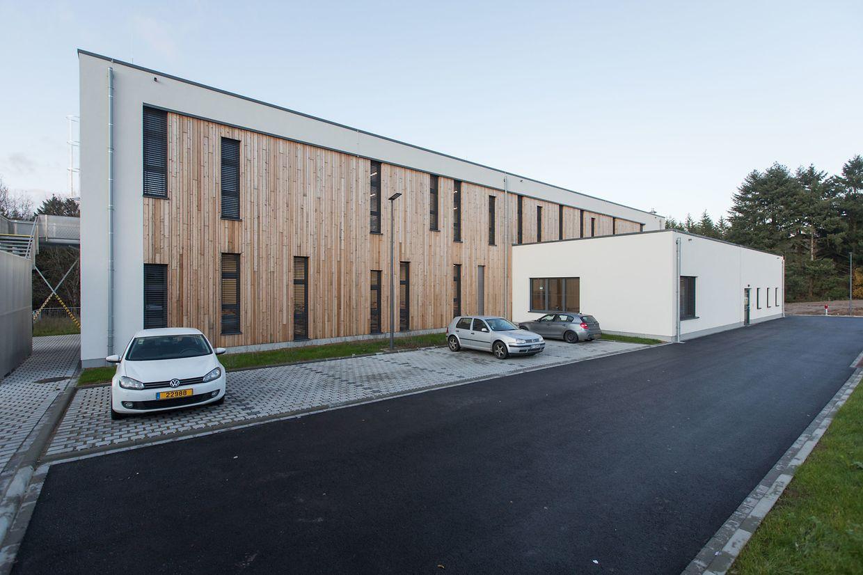 Das neue, moderne Gebäude der Wanteraktioun in der Rue de Neudorf in Findel.