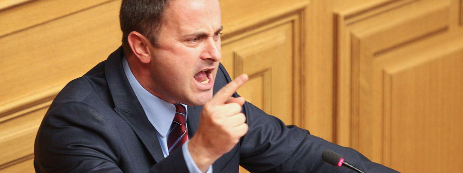 Xavier Bettel bei seiner Regierungserklärung am 14. Oktober: Auch die Protagonisten der neuen Mehrheit haben bisher nicht zu einem Wandel der politischen Debattenkultur im Land beigetragen.