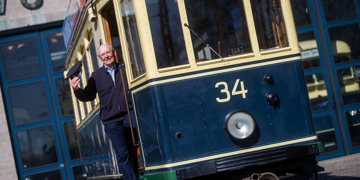 Pierre Duprel fuhr bis zum Ende der damaligen Tramära auf der Linie 10.