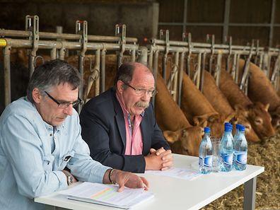 Jacques Linster (à dr.) et Philippe Schweitzer ont placé haut les ambitions du groupe.  (Photo: Lex Kleren)