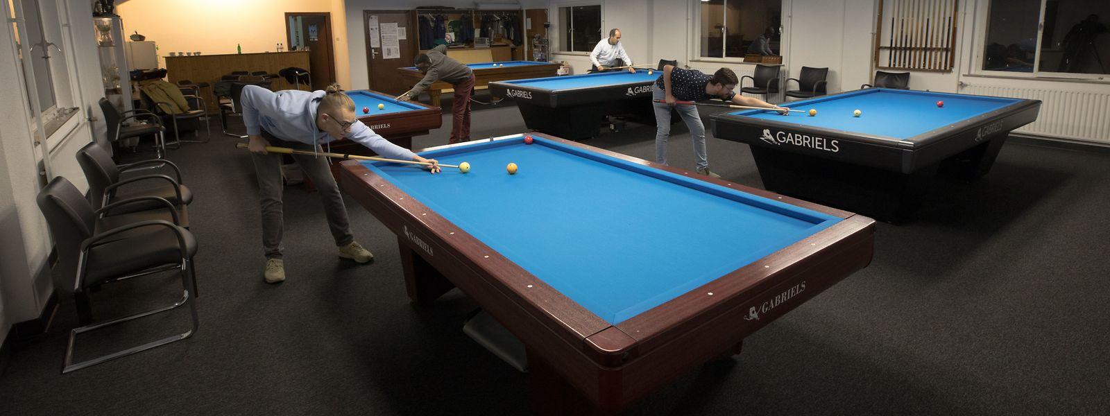 Der neu renovierte Raum der Académie de Billard in Rümelingen wird es ermöglichen, dass hier Europacup-Spiele ausgetragen werden.