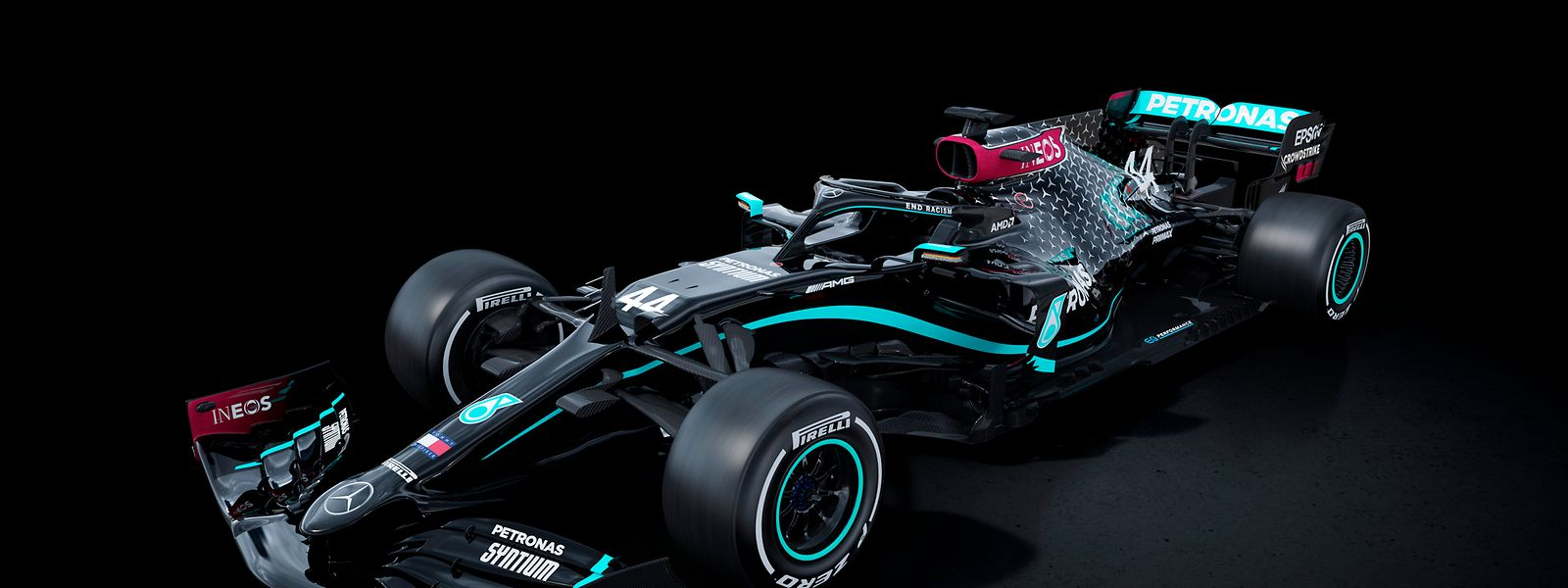 Schwarzer Silberpfeil: Das neue Auto von Weltmeister Lewis Hamilton.