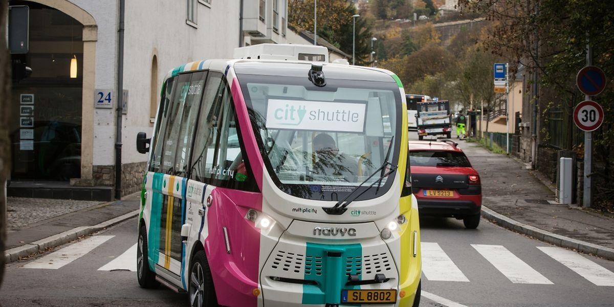 In der Regel braucht der autonome Pendelbus eine Viertelstunde für knapp zwei Kilometer.