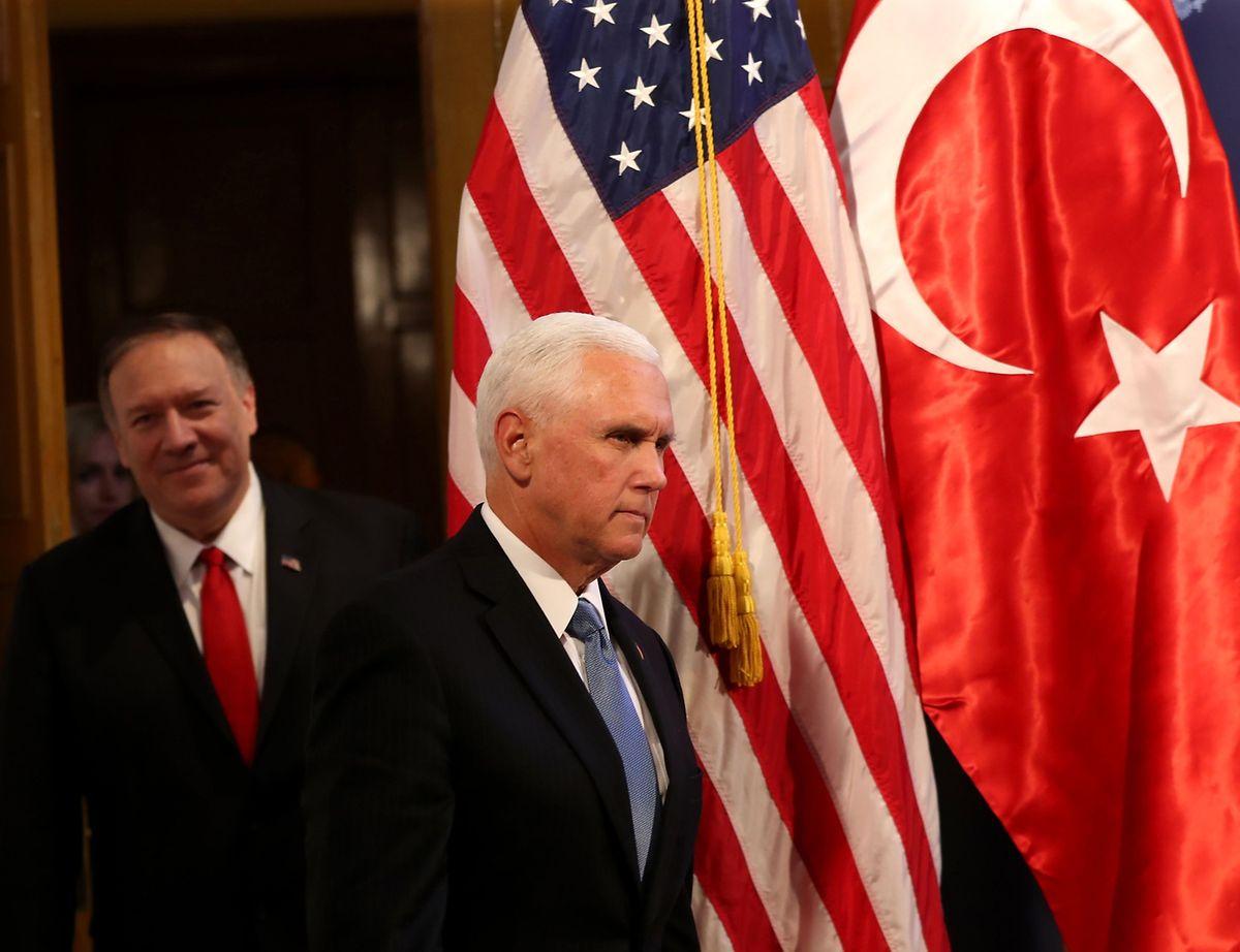 Vizepräsident Mike Pence war vergangene Woche in Ankara, um eine Waffenruhe mit der Türkei zu vereinbaren.