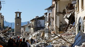 Der Kirchturm von Amatrice wurde zum Symbol für die Katastrophe.