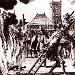 The burning of a 16th century Dutch Anabaptist, Anneken Hendriks, who was charged by the Spanish Inquisition with heresy. Amsterdam, 1571. Engraving by Jan Luyken. (Photo by: Universal History Archive/UIG via Getty Images)