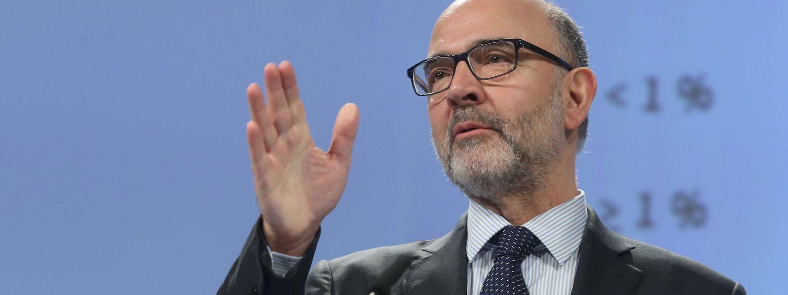 Der zuständige Kommissar Pierre Moscovici hat die Einschätzungen der Brüsseler Behörde verkündet.