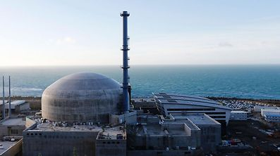 Flamanville nuclear plant 25 kilometres west of Cherbourg.
