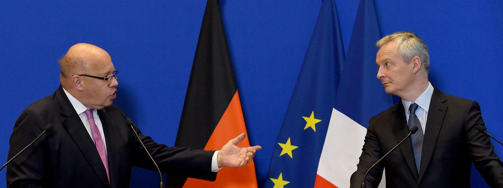 Peter Altmaier und Bruno Le Maire (r.) sind sich in Sachen Handelskrieg eins.