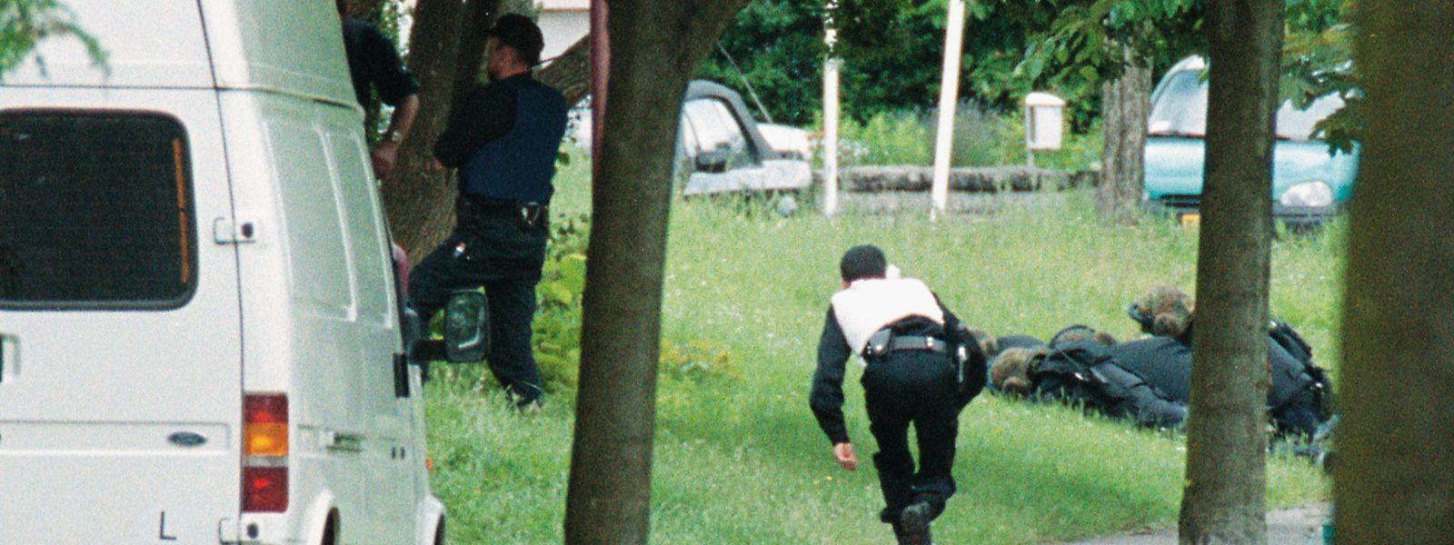Polizisten am Tatort in Wasserbillig.