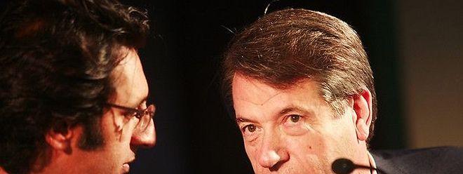 Os antigos gestores da Portugal Telecom, Zeinal Bava (E) e Henrique Granadeiros (D)