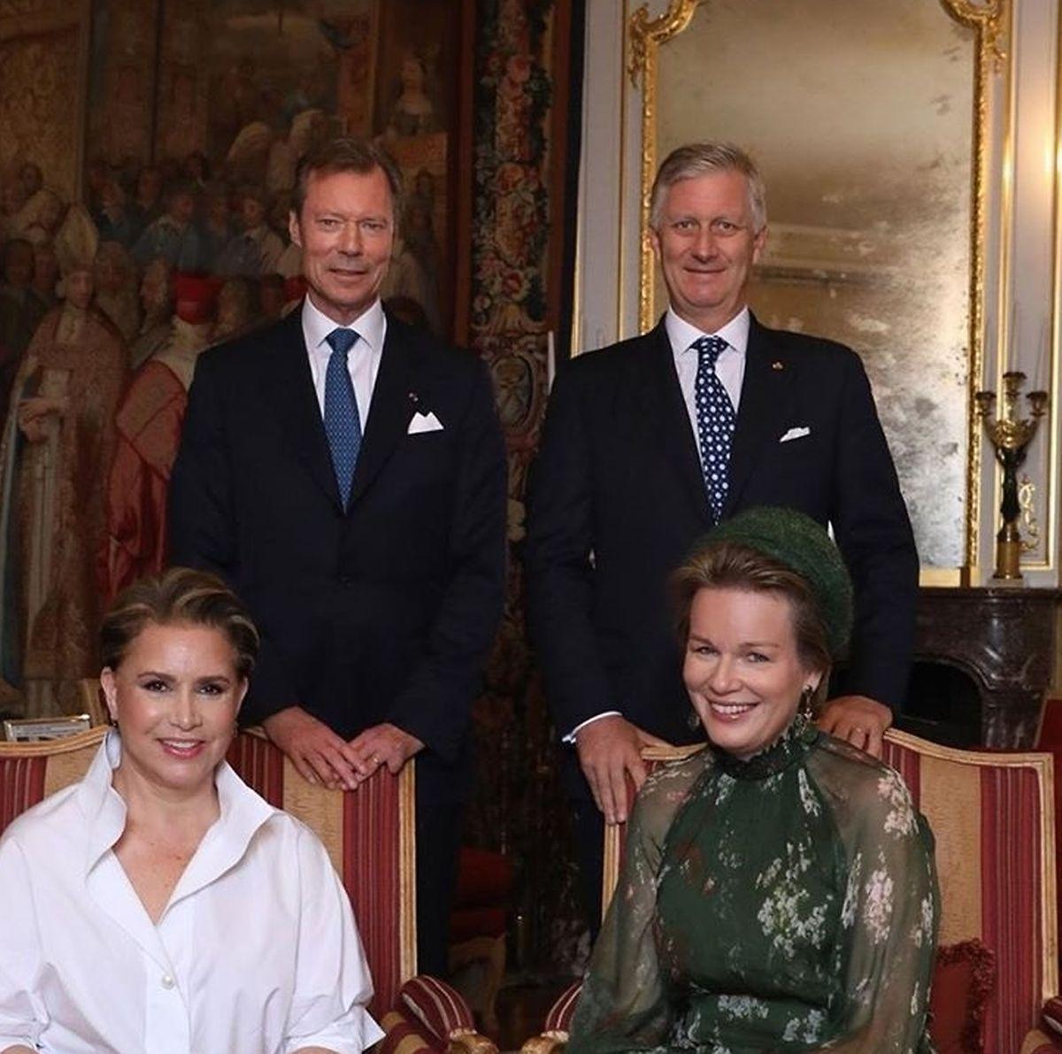 Os reis da Bélgica com os Grão-Duques do Luxemburgo.