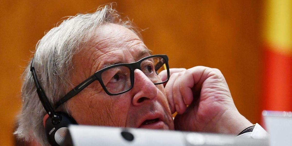 Jean-Claude Juncker zeigte sich in Rumänien verstimmt.
