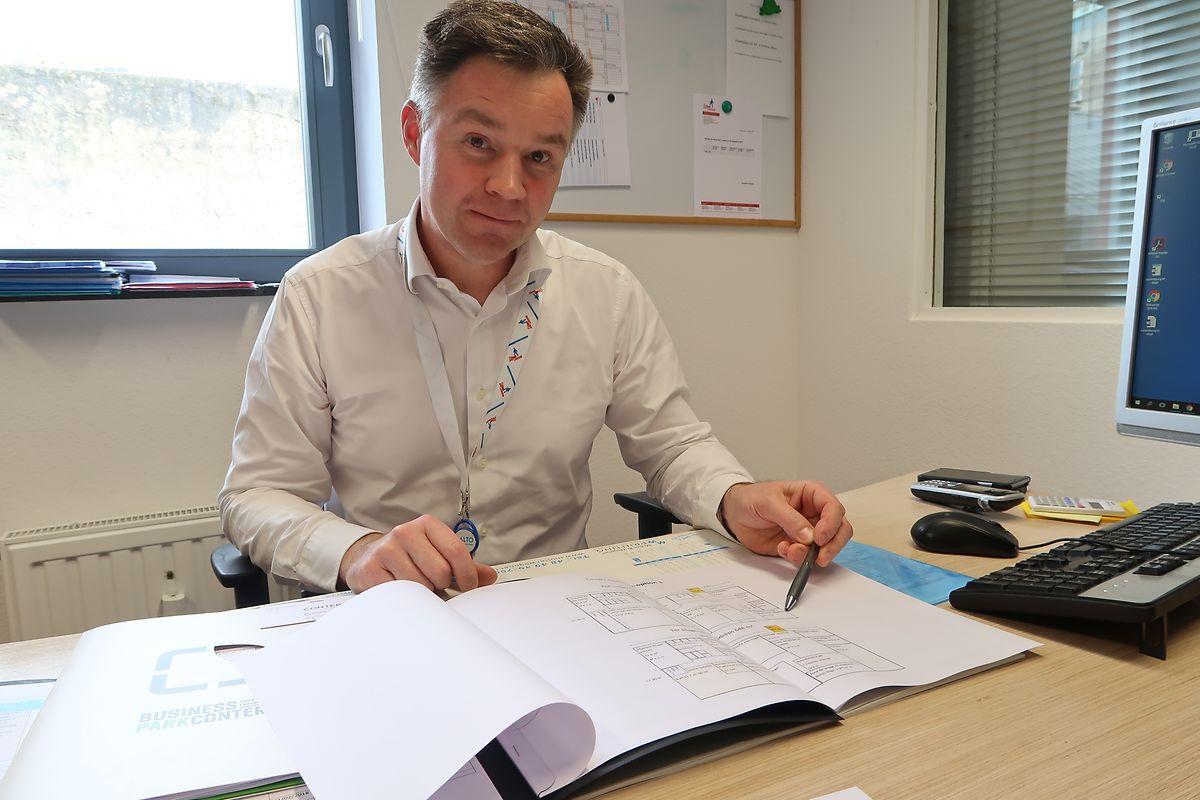 Arnaud Watelet, directeur administratif et financier de la Stëmm vun der Strooss: «On utiliserait la chaleur dégagée par les groupes réfrigérants du Caddy qui passerait dans un tunnel pour mieux faire sécher le linge de la Schweesdrëps».