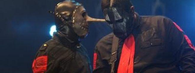 Chris Fehn (l) und Paul Gray von Slipknot.