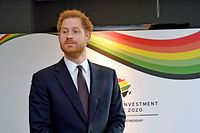 20.01.2020, Großbritannien, London: Der britische Prinz Harry, Herzog von Sussex, nimmt am eintägigen Afrika-Gipfel «UK-Africa Investment Summit 2020» teil. Foto: Stefan Rousseau/PA Wire/dpa +++ dpa-Bildfunk +++
