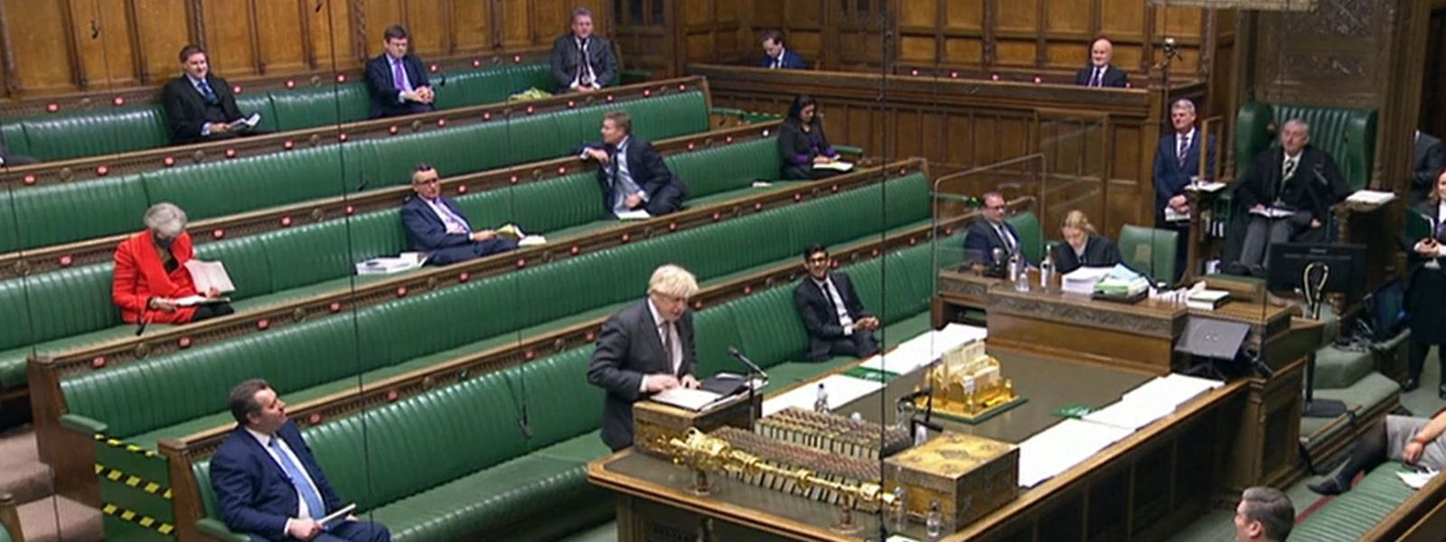 Der Premierminister von Großbritannien spricht während einer Debatte im Unterhaus über die zukünftige Beziehung zur Europäischen Union.